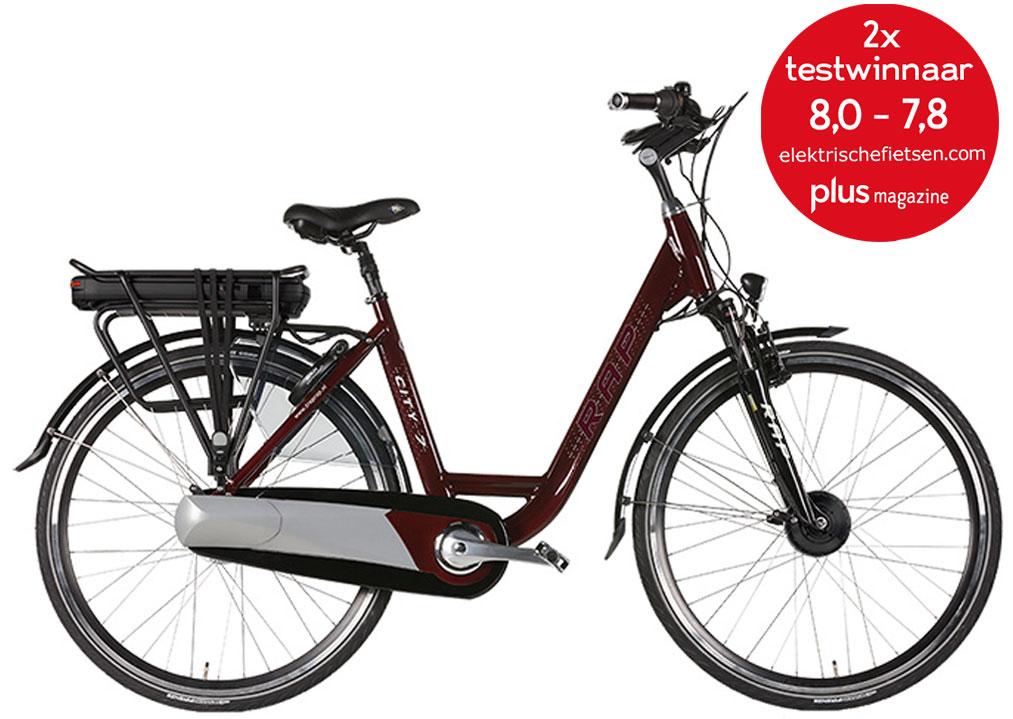 elektrische damesfiets e bike met lage instap rap city 7. Black Bedroom Furniture Sets. Home Design Ideas